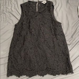Black H&M's lace sleeveless top size small